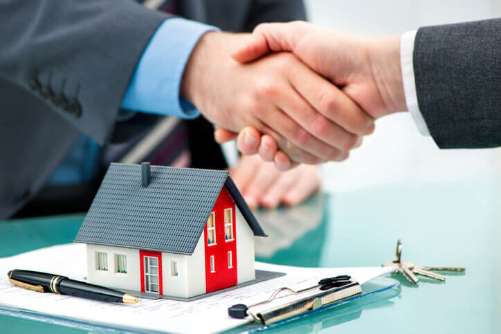 Property Manager Shaking Hands After Getting Leads